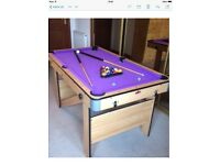 Half Price Pool Table! As new condition and comes with everything; cues, balls, triangle, chalk