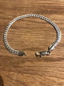 Sterling silver snake bracelet
