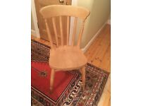 x4 solid oak kitchen chairs