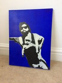 Alan from hangover funny, Handpainted canvas