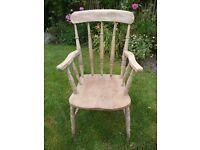 Old pine 'Grandad Chair'