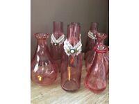 Beautiful vintage bud vases wedding decorations