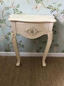 Small bedside or hall table