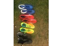 Football Boots x 4 Pairs Size 7 includes 1 rare pair of sock boots