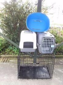 large cat carrier &covered litter tray&plastic bed&large cage