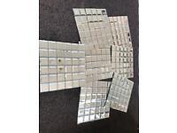 Glass Mirror Mosaic Tiles 7 sheets NEW BARGAIN