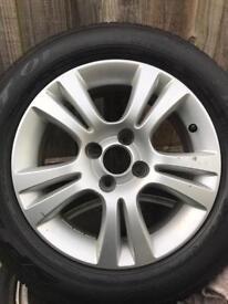 """Vauxhall 4 stud 15"""" alloys tyres"""