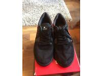 Men's black trainers