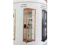 Display Cabinet Beech effect