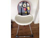Mickey Mouse Disney High Chair by Mothercare