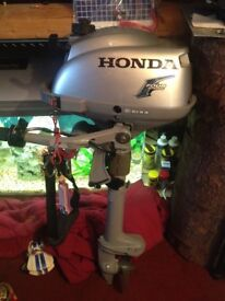 Honda 2.3 4stroke outboard only ran for about 4 hours mint condition