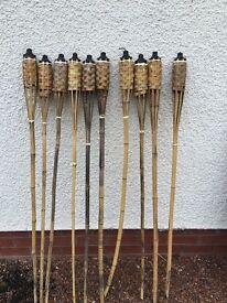 Bamboo torch lights