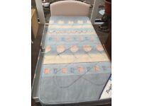 Single Divan bed with mattress, 2 drawers, new headboard, £35