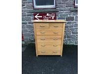Solid oak chest of drawers * free furniture delivery