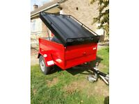 Remy trailer with roof box