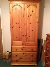 Solid pine wardrobe