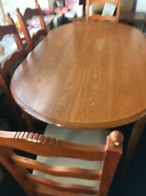 Dining Table + 6 Chairs very sturdy set