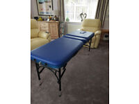 Professional grade massage table with £120 extras.