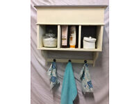 Bathroom or other wall mounted shelf unit