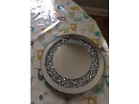 Crystal mirror plate