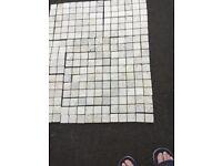 Natural stone tiles.