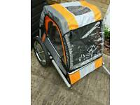 Halfords Double Buggy Child Bike Trailer (Used two times only)