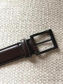Men's leather signature belt, brand new, Next
