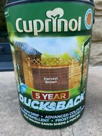 Fence Paint- Cuprinol Harvest Brown