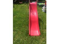 Children's swing and wavy slide