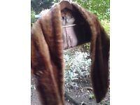 *CHARITY SALE* Vintage fur shawl / stole (4)