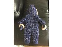 Mothercare unisex snowsuit winter jacket