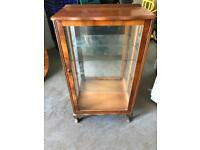 Vintage glass & wood display cupboard