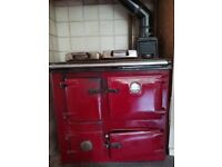 Rayburn Supreme solid fuel cooker.