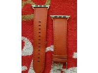 Red Leather 42mm Apple Watch Straps
