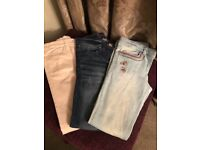 3 pairs of Next Girls Skinny Jeans aged 11 yrs