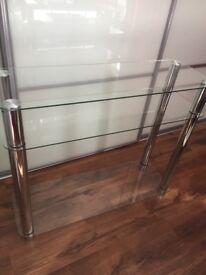 Hygena glass 3 tier unit