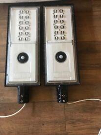 2X IP65 column top LED L3 10200 lumen lights wide r11 wide sensor and photo cell
