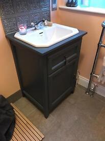 Basin unit, bathstore savoy charcoal grey