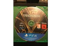 Dishonored 2 for sale PlayStation 4 game