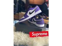 Air Jordan 1 Low Court Purple UK 11