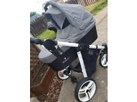 Vennicci 3 in 1 pram with isofix system