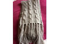 Ladies grey cable knit Accessorize scarf, never worn