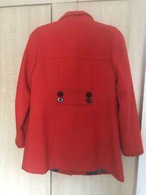 Next Orange smart coat size 8
