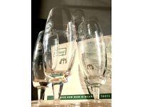 10x crystal Pilsner Urquell glasses