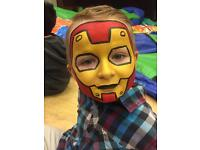 Face painter, candy floss and popcorn machine, bouncing castles, soft play, cake table face painting