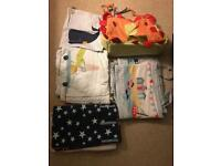 MamasPapas breathable Baby Cot bed bumpers and tidy bags