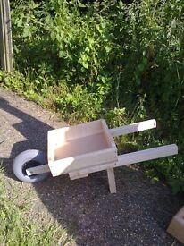 Home made wheel barrow garden planter