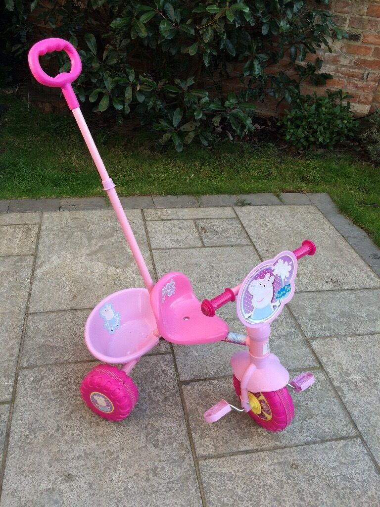 **Peppa Pig Trike** Parent Handle, Lovely Condition