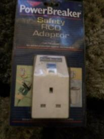Power breaker safety RCD adapter