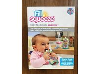 NEW Fill N Squeeze Baby Food Starter Set